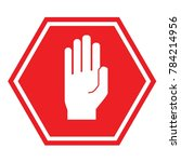 hand stop sign for traffic road ... | Shutterstock .eps vector #784214956