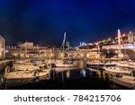 night harbor view at dubrovnik... | Shutterstock . vector #784215706