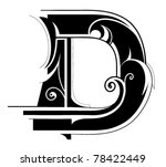 decorative letter shape. font... | Shutterstock .eps vector #78422449