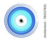 greek blue evil eye vector  ... | Shutterstock .eps vector #784227832