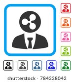 ripple manager icon. flat gray...