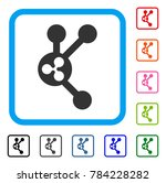 ripple connect nodes icon. flat ... | Shutterstock .eps vector #784228282