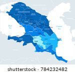 caucasus region map   detailed... | Shutterstock .eps vector #784232482