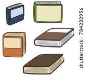 vector set of books | Shutterstock .eps vector #784232956