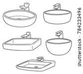 vector set of sink | Shutterstock .eps vector #784233496