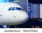 the ground crew is preparing... | Shutterstock . vector #784235062