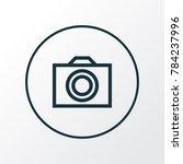photo icon line symbol. premium ...