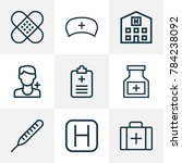 medicine icons line style set... | Shutterstock .eps vector #784238092