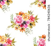 beautiful bright floral... | Shutterstock . vector #784240636