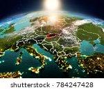 sunrise above slovakia... | Shutterstock . vector #784247428