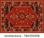 persian carpet  tribal vector... | Shutterstock .eps vector #784250398