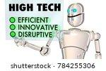 high tech robot efficient... | Shutterstock . vector #784255306