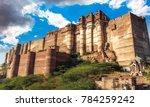 mehrangarh fort at jodhpur city ... | Shutterstock . vector #784259242