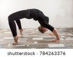 caucasian girl doing gymnastic... | Shutterstock . vector #784263376