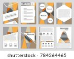 abstract vector layout... | Shutterstock .eps vector #784264465