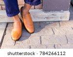 close up of men food wearing... | Shutterstock . vector #784266112