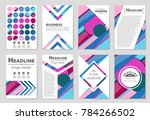 abstract vector layout... | Shutterstock .eps vector #784266502