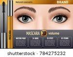 waterproof mascara design... | Shutterstock .eps vector #784275232