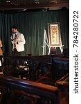 Small photo of CARIBBEAN SEA - DEC 20, 2017 - Art auction aboard a cruise ship, Caribbean Sea