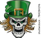 saint patrick day skull with... | Shutterstock .eps vector #784284196