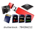 flash memory is the theme of... | Shutterstock . vector #784286212