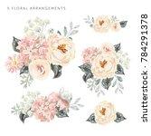 Set Of The Floral Arrangements...