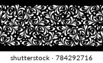 decorative floral seamless... | Shutterstock .eps vector #784292716
