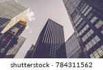 tall building in new york in... | Shutterstock . vector #784311562