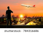 concept of logistic industry... | Shutterstock . vector #784316686