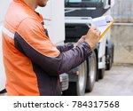 professional truck driver...   Shutterstock . vector #784317568