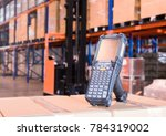 bluetooth barcode scanner in... | Shutterstock . vector #784319002