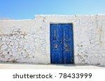 Old Door On Santorini Island ...