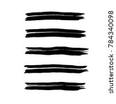 brush stroke set. texture. | Shutterstock .eps vector #784340098