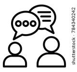 two persons conversation or... | Shutterstock .eps vector #784340242