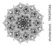 mandalas for coloring book.... | Shutterstock .eps vector #784349266