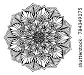 mandalas for coloring book.... | Shutterstock .eps vector #784349275
