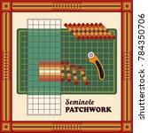 patchwork diy  cutting mat ... | Shutterstock .eps vector #784350706