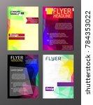 vector brochure flyer design... | Shutterstock .eps vector #784353022