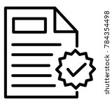 a document with approval badge  ... | Shutterstock .eps vector #784354498
