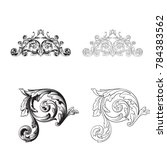 classical baroque vector set of ... | Shutterstock .eps vector #784383562