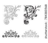 classical baroque vector set of ... | Shutterstock .eps vector #784383568