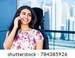 beautiful south indian woman... | Shutterstock . vector #784385926