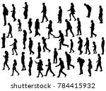 vector  isolated silhouette... | Shutterstock .eps vector #784415932