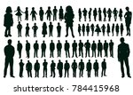 vector  isolated silhouettes... | Shutterstock .eps vector #784415968