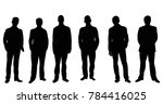 isolated silhouette of a man... | Shutterstock .eps vector #784416025