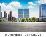 empty square and floor with sky | Shutterstock . vector #784426726