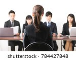 people of having an interview.... | Shutterstock . vector #784427848