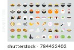 big set of japanese food and... | Shutterstock .eps vector #784432402