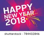 happy fitness new year | Shutterstock . vector #784432846