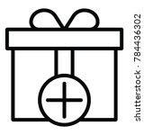 a gift box with a plus sign... | Shutterstock .eps vector #784436302